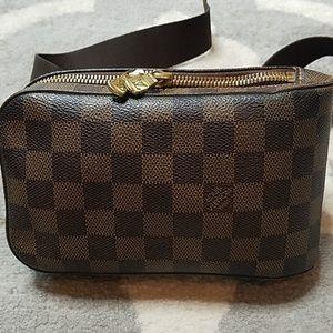 AUTHENTIC Louis Vuitton Geronimo Damier Ebene Bag